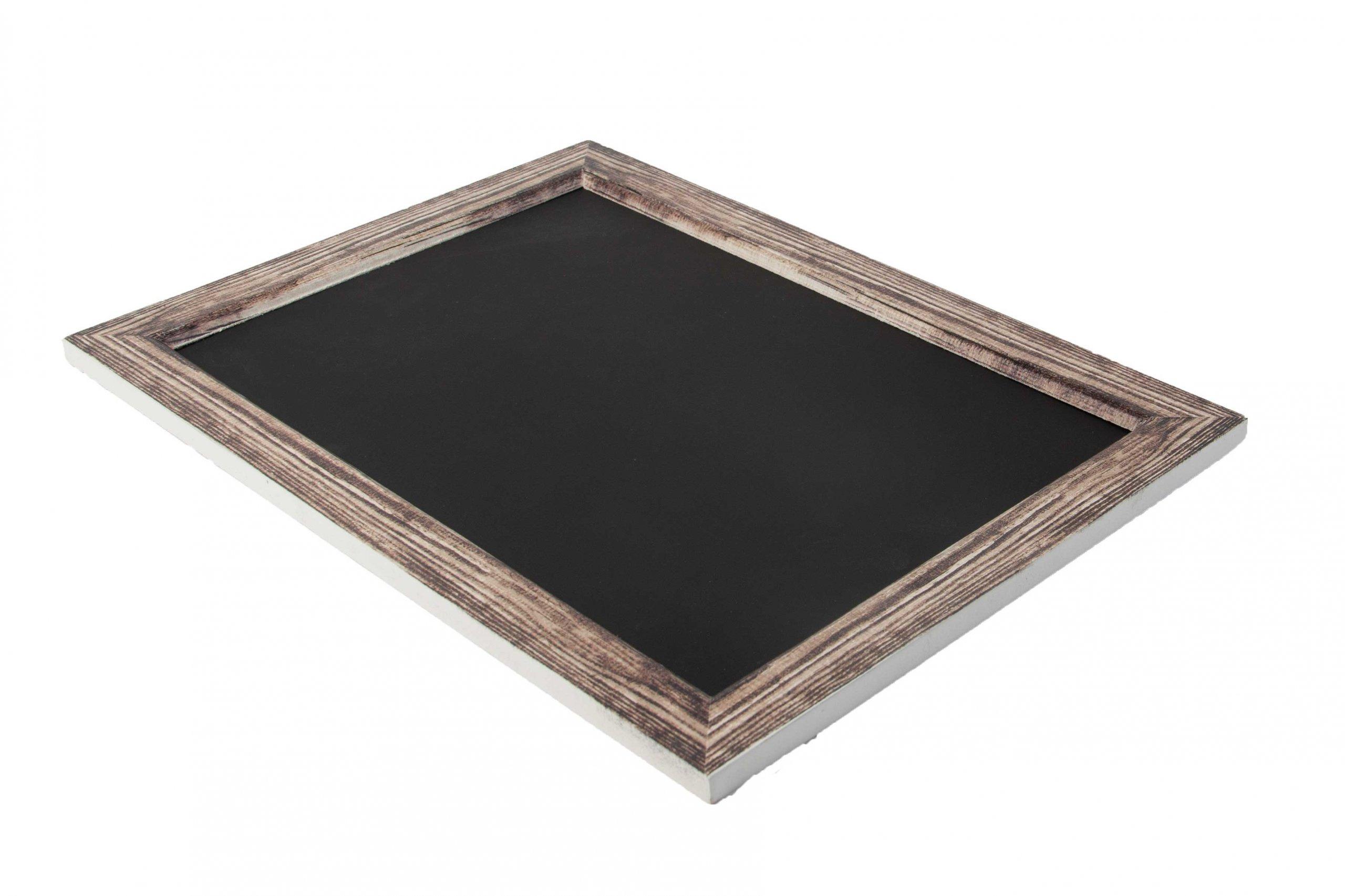 Tablica kredowa w drewnianej ramce brąz 25 cm