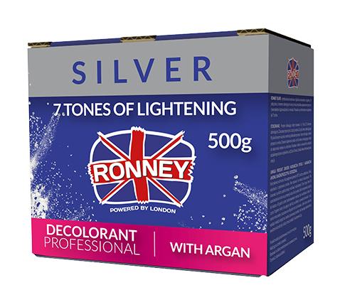 Ronney Silver Rozjaśniacz 500g z arganem