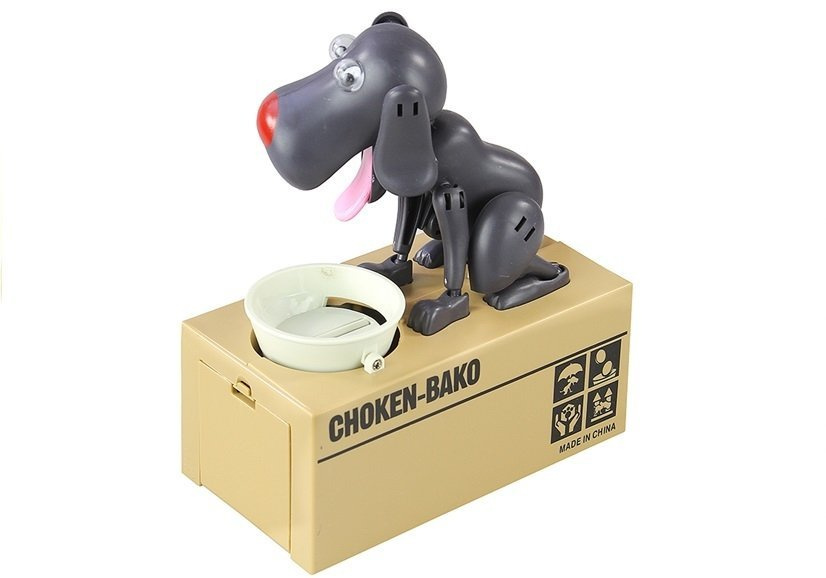 Skarbonka Pies Zjadający Monety Grafitowy