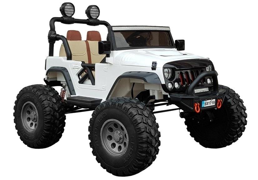 Auto na Akumulator Jeep  SX1719 Biały 4x4