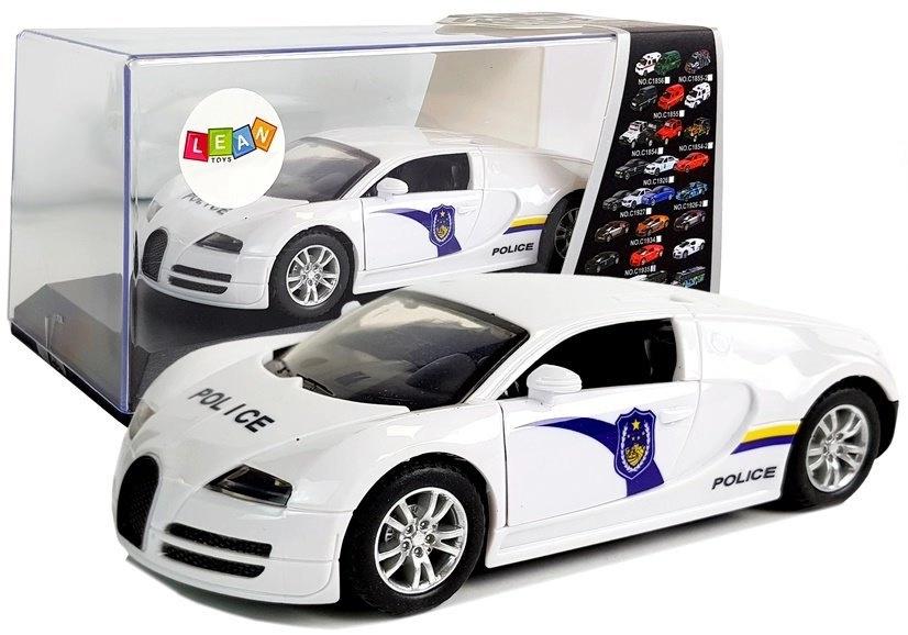 Auto Sportowe Policyjne Policja z Napędem Dźwięk Światła Białe