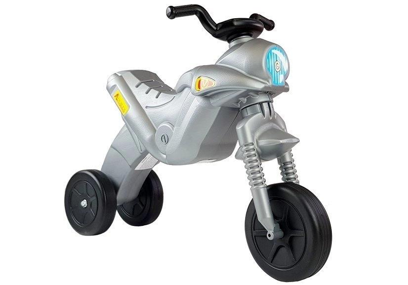 Motorek Biegowy Trójkołowy Enduro Jeździk Srebrny 5045