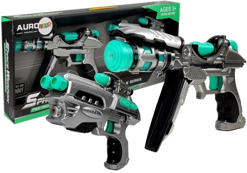 Dwa Pistolety Kosmiczne Efekty Dźwiękowe Świetlne