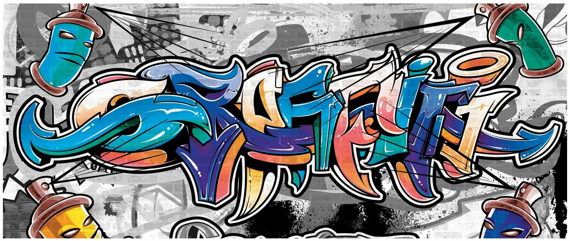 FOTOTAPETA GRAFFITI FOTOTAPETY NA ŚCIANĘ