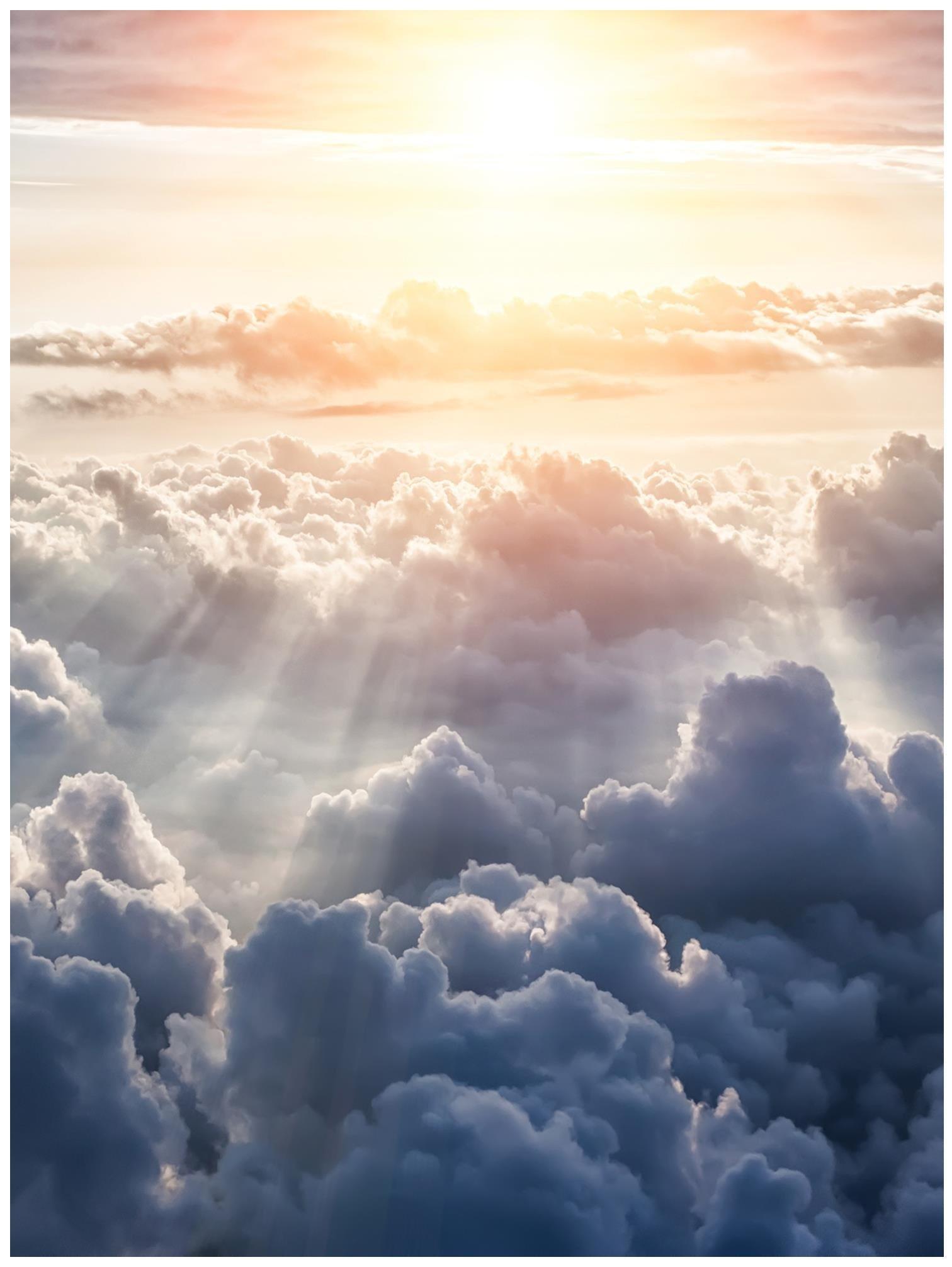 Fototapeta niebo chmury promienie słońca