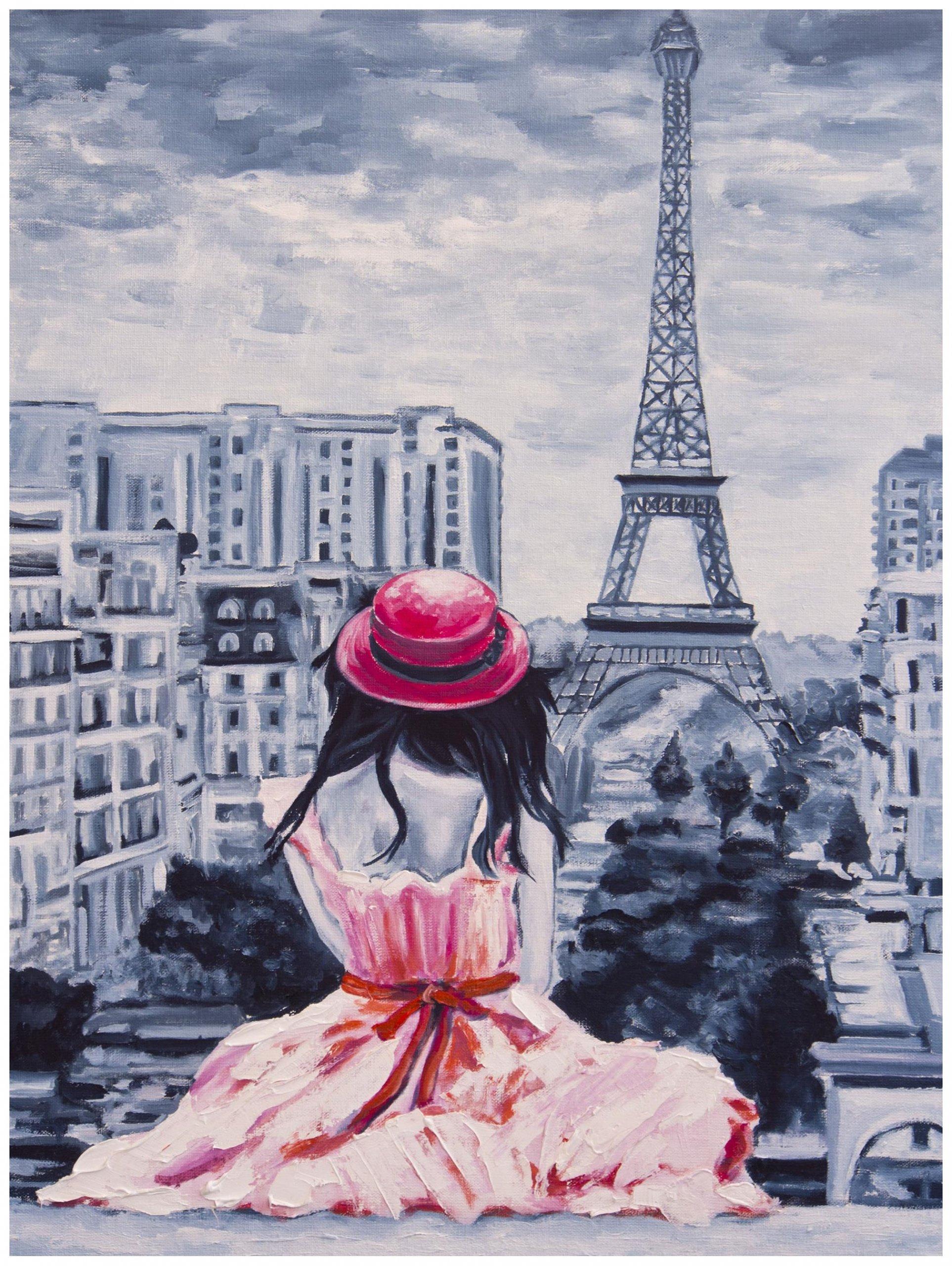 Fototapeta jak malowana wieża Eiffla Paryż