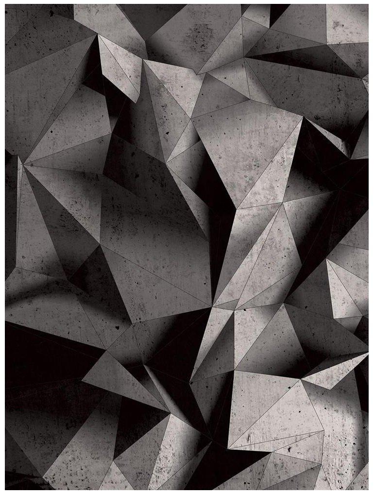 Fototapeta 3D trójkąty beton fototapety