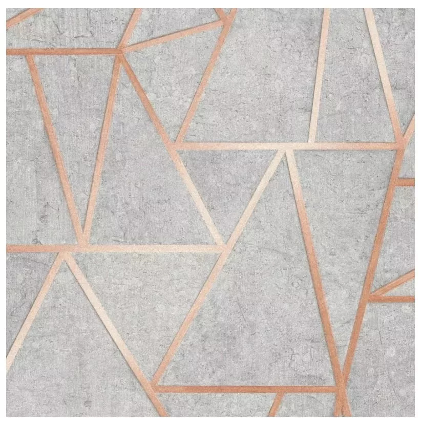 TAPETA geometryczna beton szary styl Soho