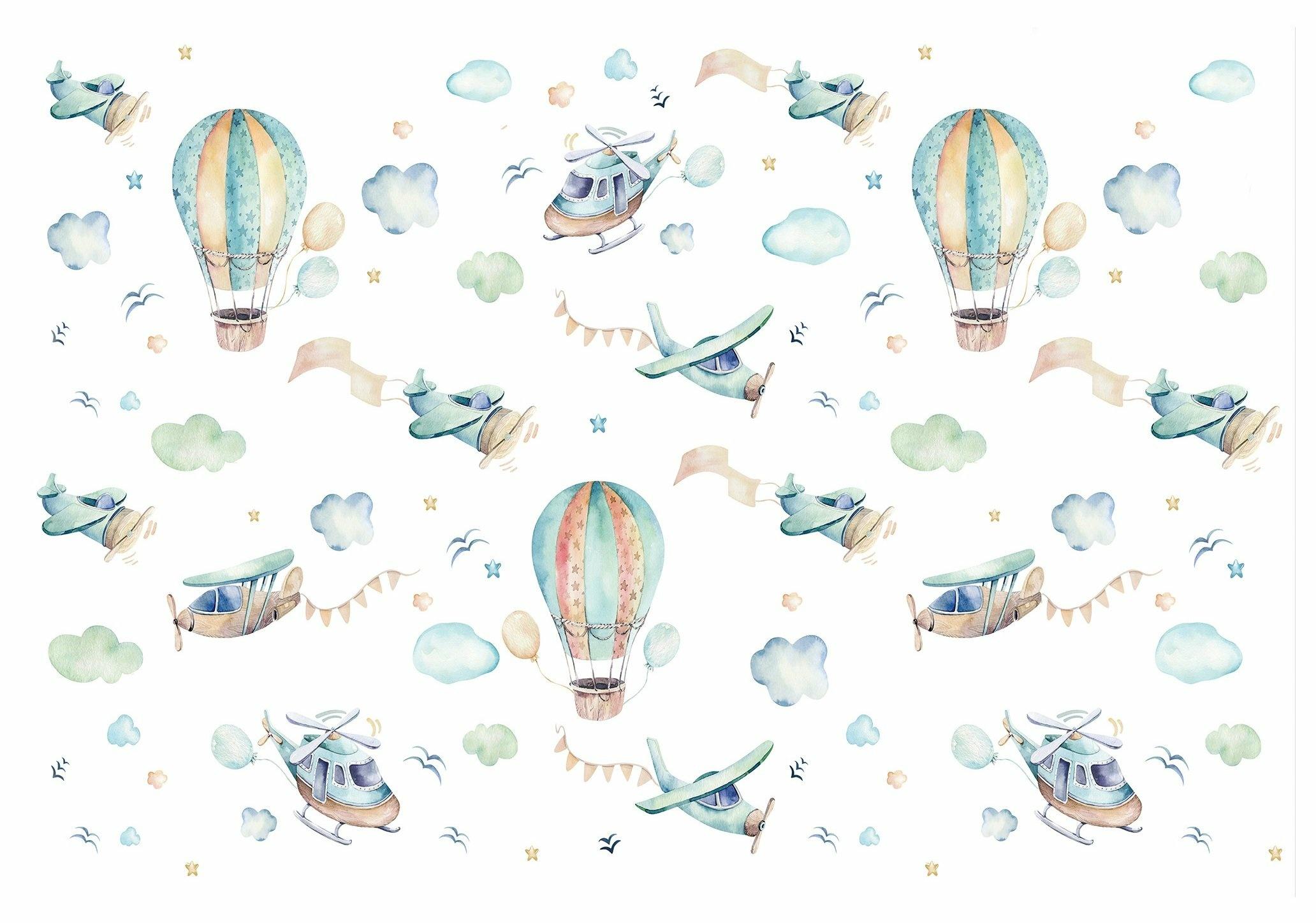 Fototapeta dziecięca skandynawska balony