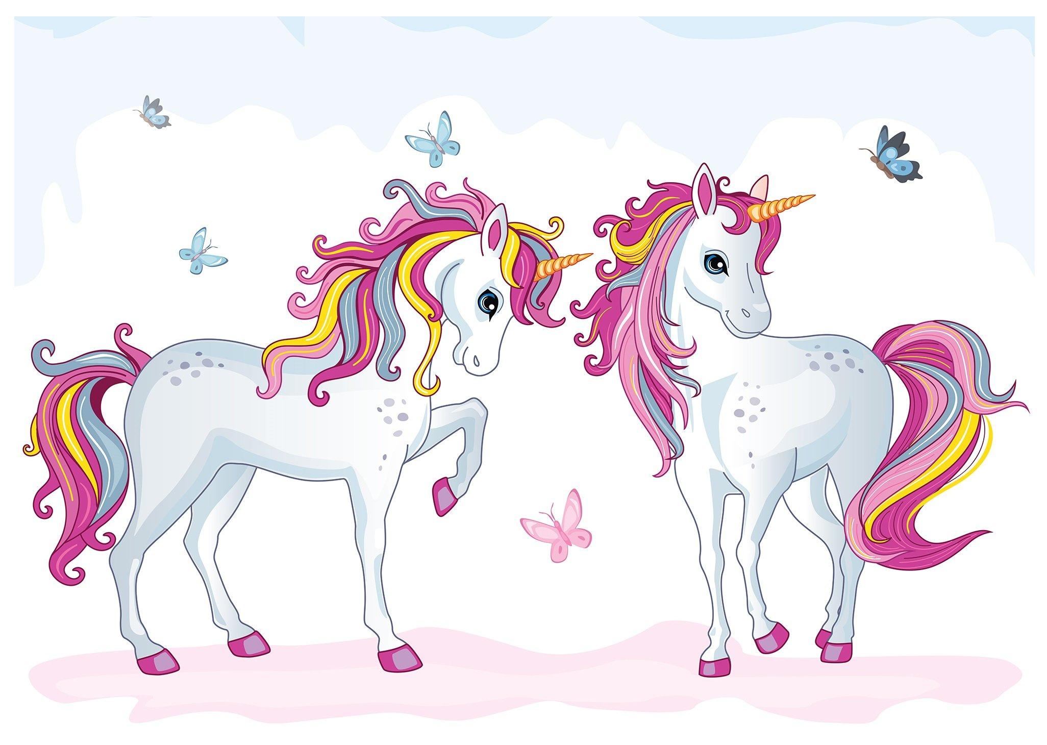 Fototapeta dla dzieci jednorożce konie