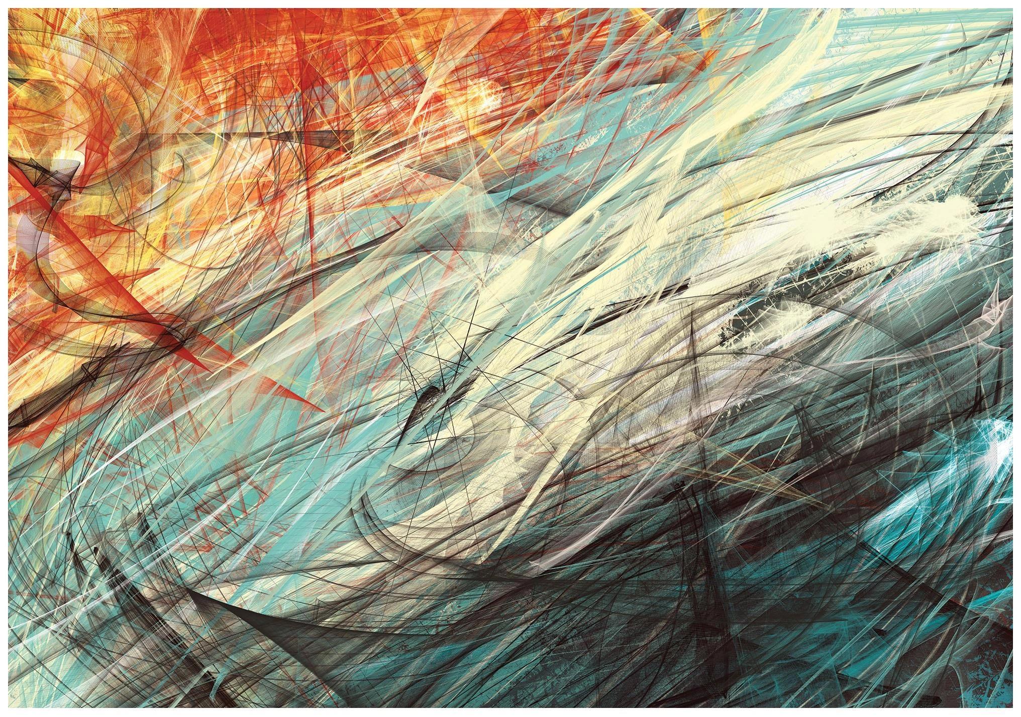 Fototapeta kolorowa abstrakcja malarska