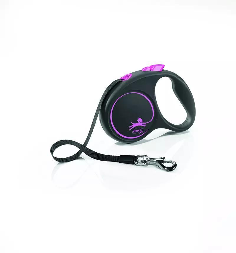 FLEXI Smycz automatyczna Black Design S linka 5 m