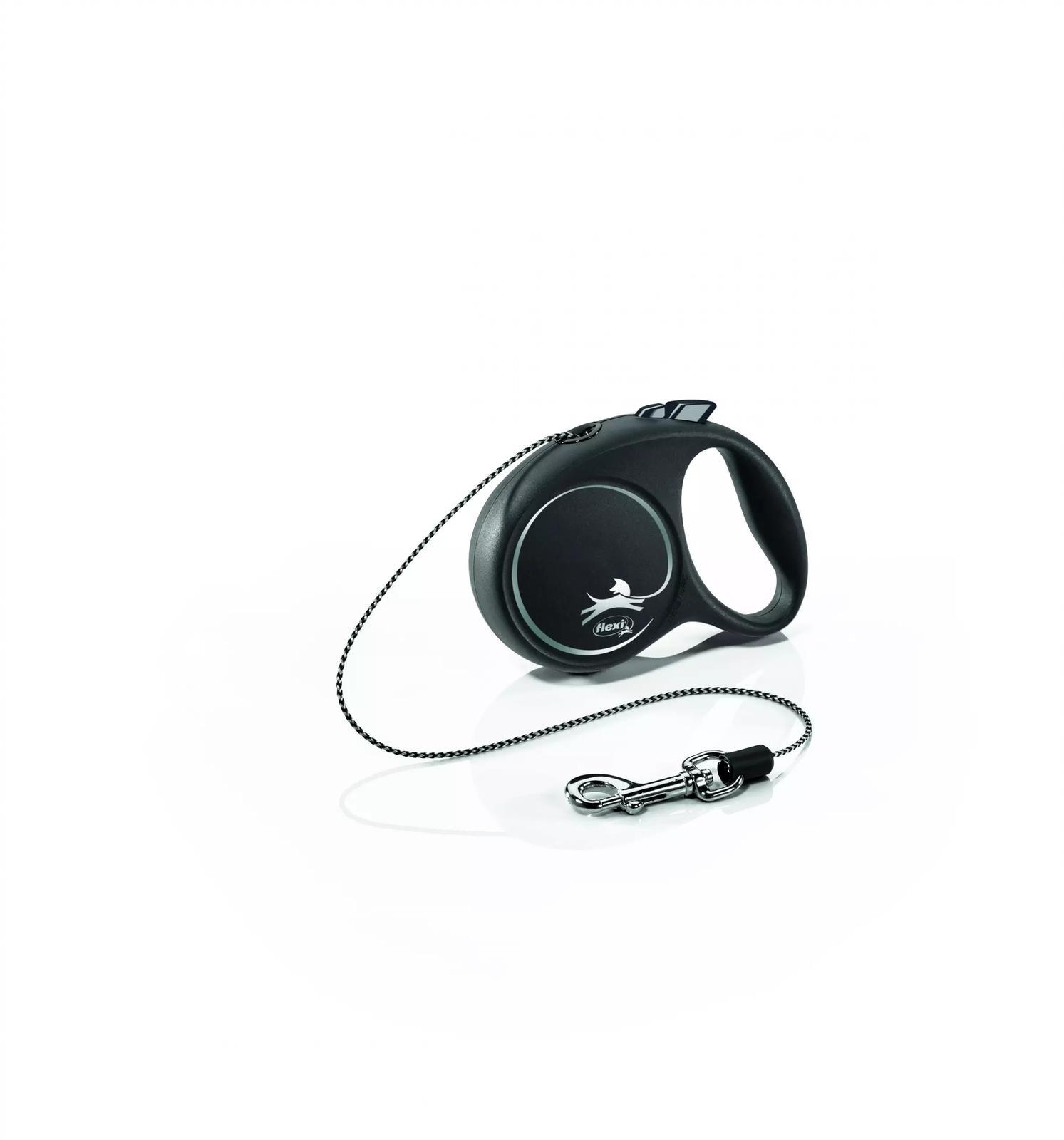 FLEXI Smycz automatyczna Black Design XS linka 3 m