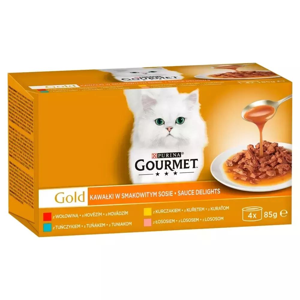 Purina GOURMET GOLD kawałków w sosie 4X85g