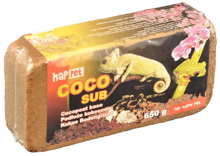 600 BRYKIET Torf kokosowe do terrarium 650g