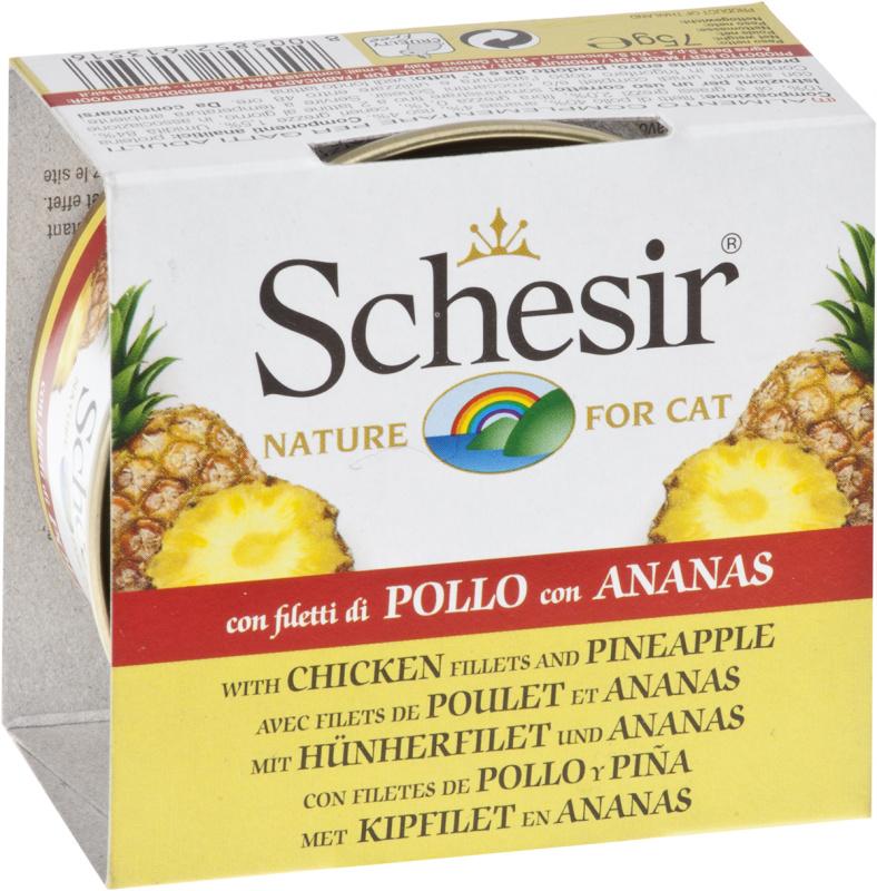 SCHESIR Kurczak z ananasem 75g